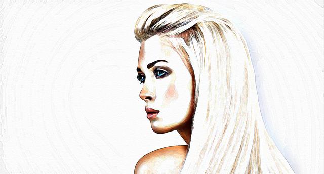 malovaná dívka
