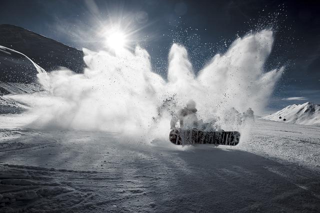 letící sníh